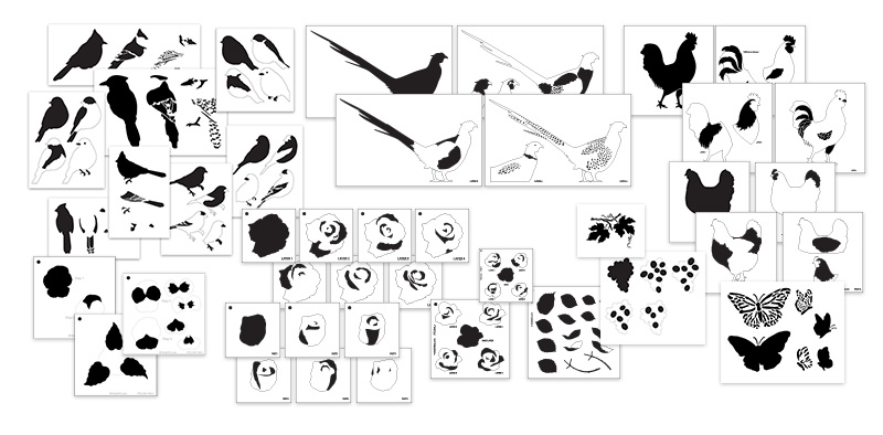 Ultimate Layered Stencil 42-piece Set