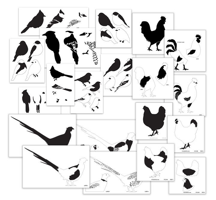 Song & Farm Birds Deluxe Layered Stencil Set
