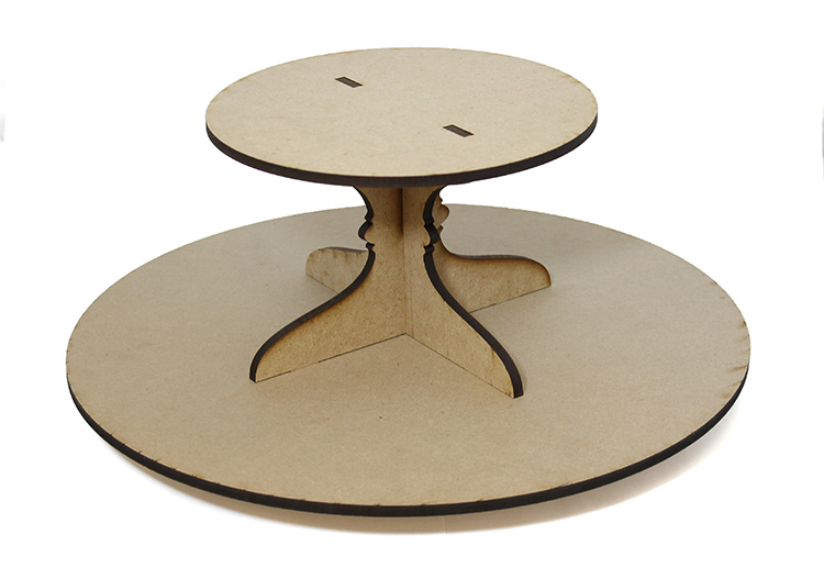 Round Lazy Susan with Tier - Includes Base