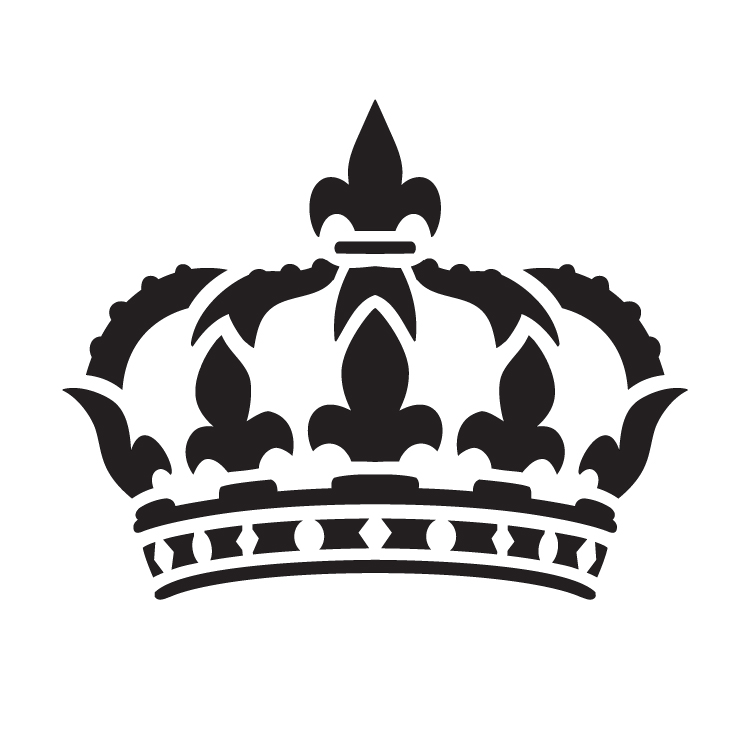 "Queens Crown - Art Stencil - 9"" x 9"" - STCL1126_2 by StudioR12"
