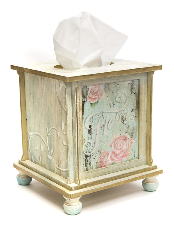French Roses Tissue Box - DVD and Pattern Packet - Patricia Rawlinson