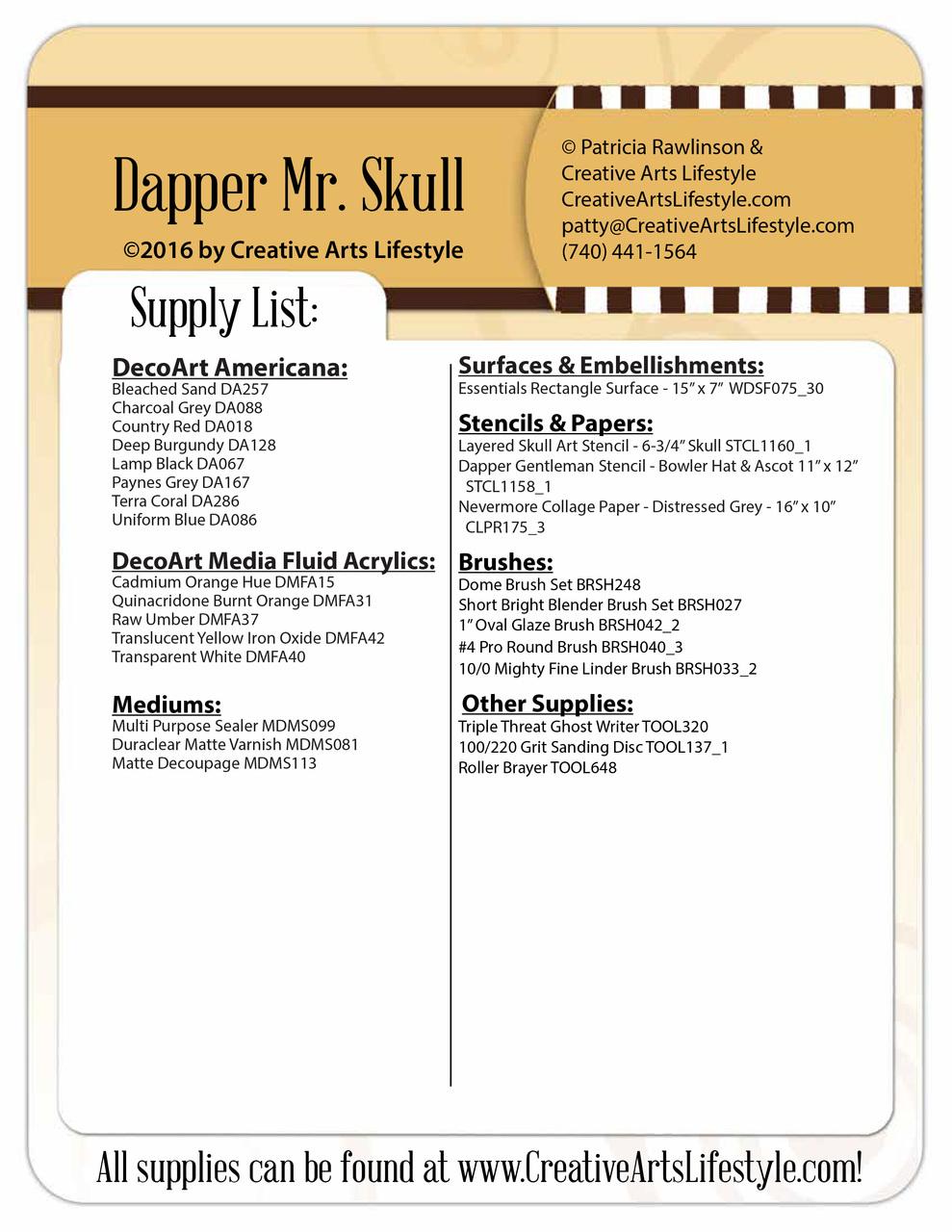 Dapper Skull - E-Packet - Patricia Rawlinson