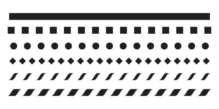 "3/8"" Line Pattern Stencil - 12"" x 6"" - STCL682_2 - by StudioR12"
