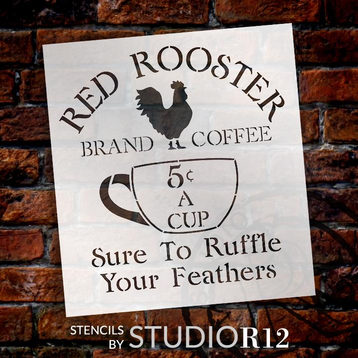 "Vintage Coffee Sign Stencil - 10.5"" x 11.5"" - STCL1428_1 - by StudioR12"