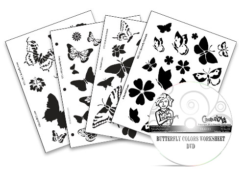 Butterfly Colors DVD + Deluxe Stencil Set