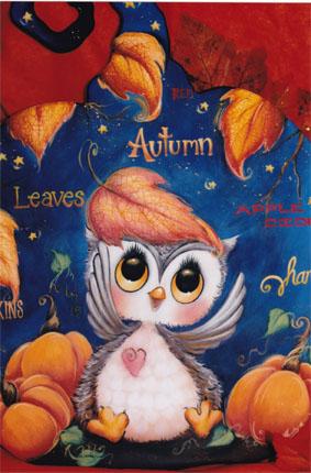 Autumn Owl Pumpkin E-packet - Holly Hanley
