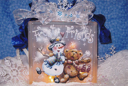Frosty Friends Glass Block E-packet - Holly Hanley