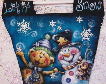 Let It Snow Canvas Bag E-packet - Holly Hanley