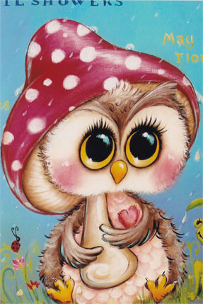 Spring Showers Owl - E-Packet - Holly Hanley