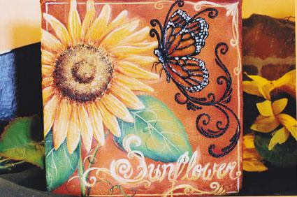 Sunflower & Monarch E-packet - Holly Hanley