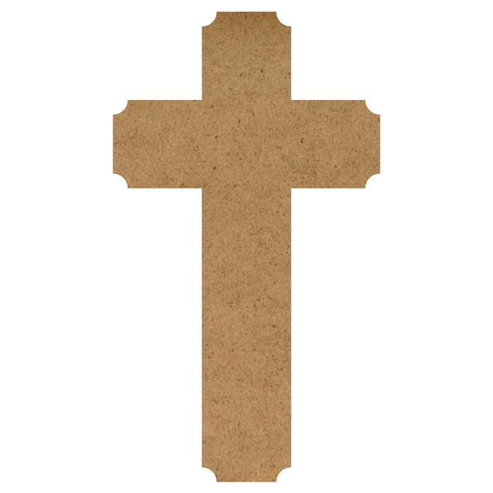 "Decorative Cross Wood Embellishment Mini - 1 1/4"" x 2 1/4"""
