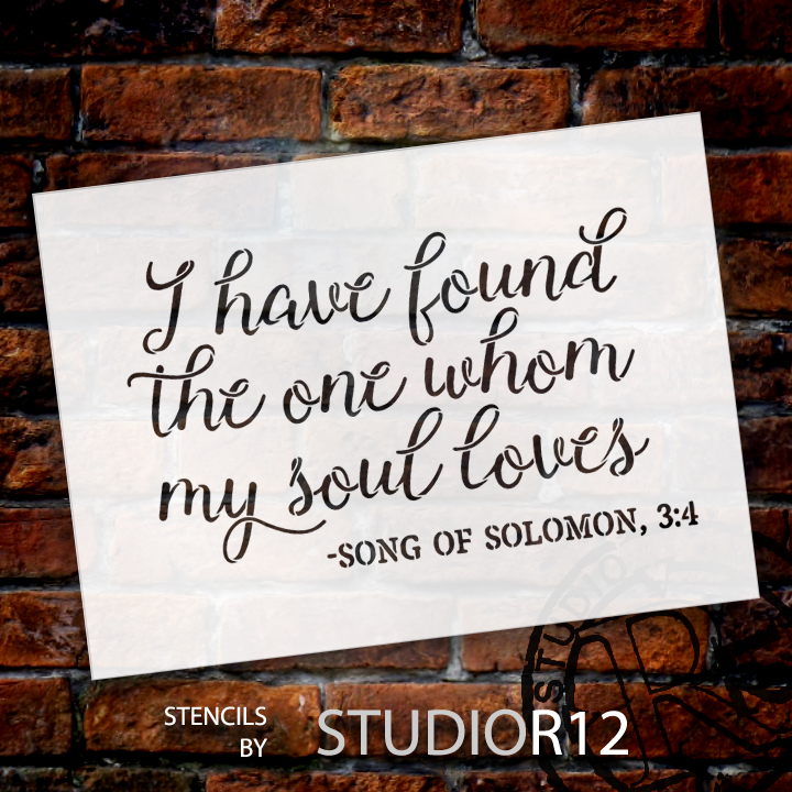 """I Have Found the One - Word Stencil - 11"""" x 8"""" - STCL1582_1 by StudioR12"""