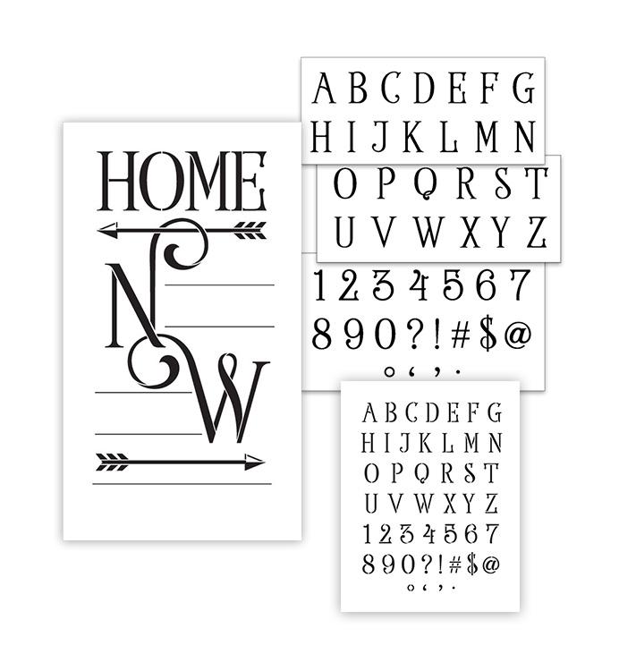 Home Coordinates Stencil Set