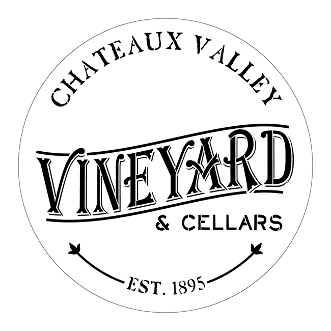 "Chateaux Valley Vineyard Stencil - 18"" x 18"" - STCL1938 - by StudioR12"