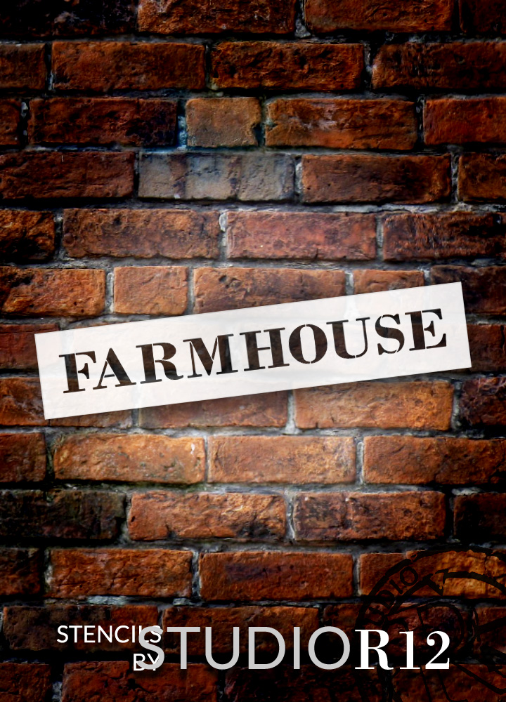 "Farmhouse - Country Serif - Word Stencil - 21"" x 4"" - STCL1969_2 - by StudioR12"