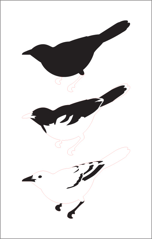 "Northern Oriole Layered Stencil - 7"" x 11"""