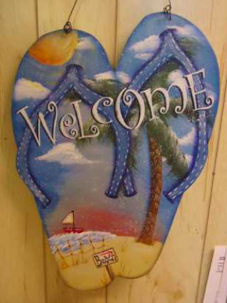 Welcome Flip Flops Sign E-Packet - Betty Bowers