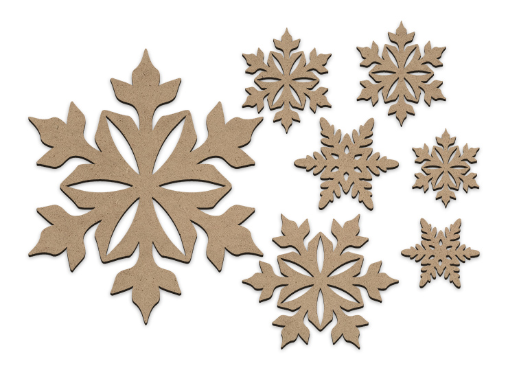 Large Snowflake Embellishment Set