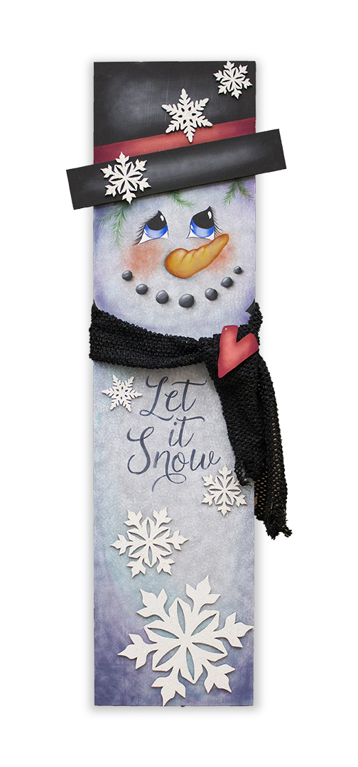 Snowman Tall Porch Sign - DVD and Pattern Packet - Patricia Rawlinson