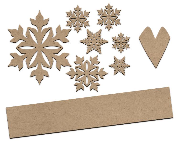 Snowman Tall Porch Sign Project Embellishment Set