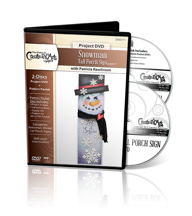 Snowman Tall Porch Sign Deluxe DVD Set