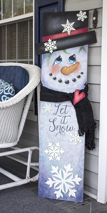 Snowman Tall Porch Sign - E-Packet - Patricia Rawlinson