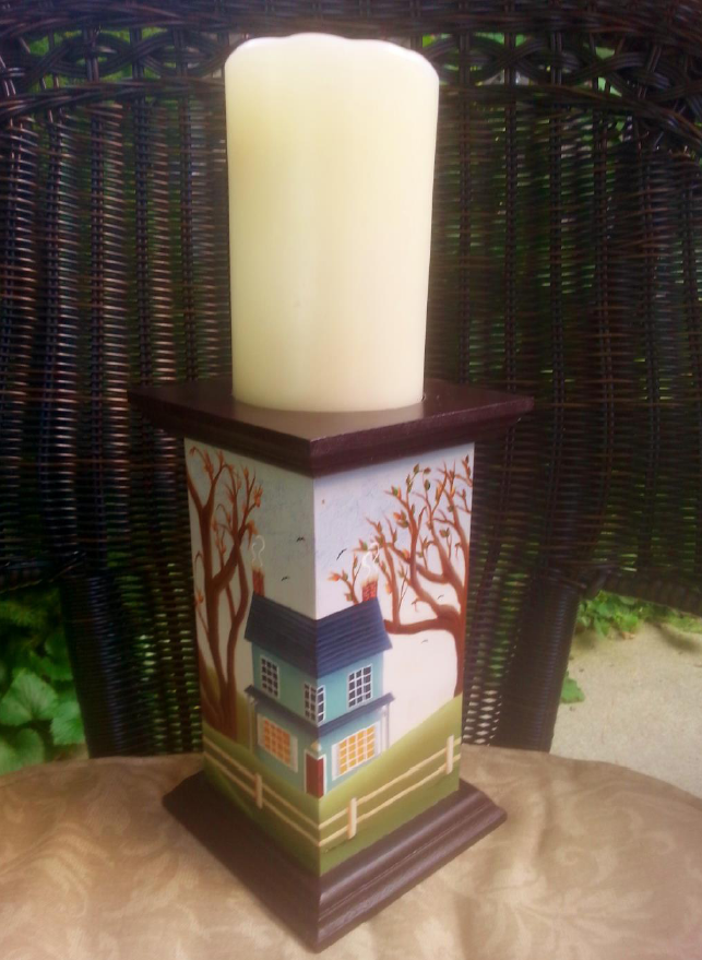 Farmhouse Candle Stand - E-Packet - Linda Samuels