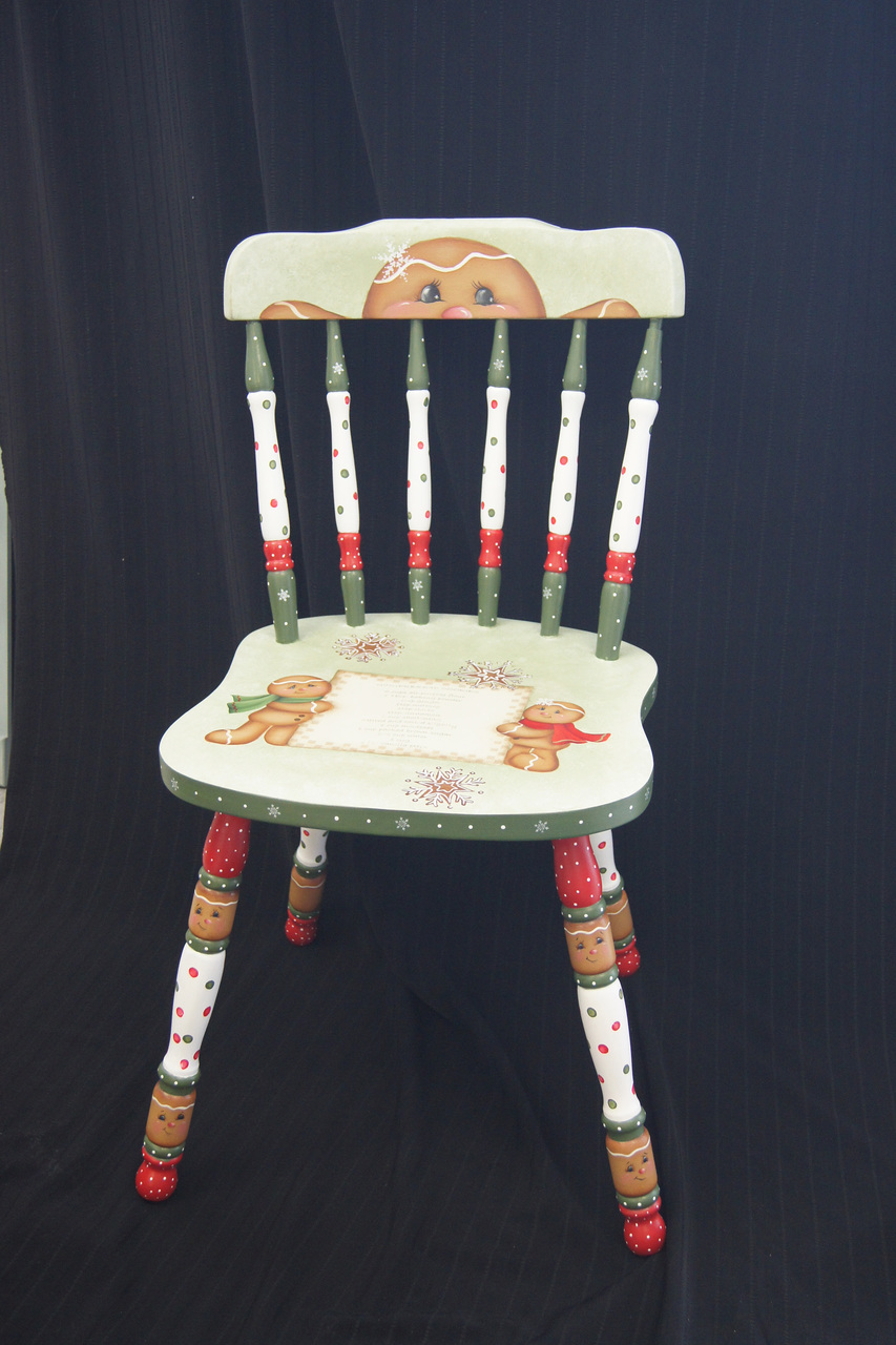Gingerbread Christmas Chair - E-Packet - Wendy Fahey