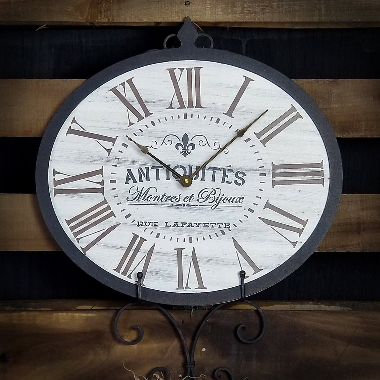 Oval Clock Stencil w/Roman Numerals - French Antique Words - DIY Painting Vintage Country Farmhouse Home Decor for Walls - STCL2420 - Select Size