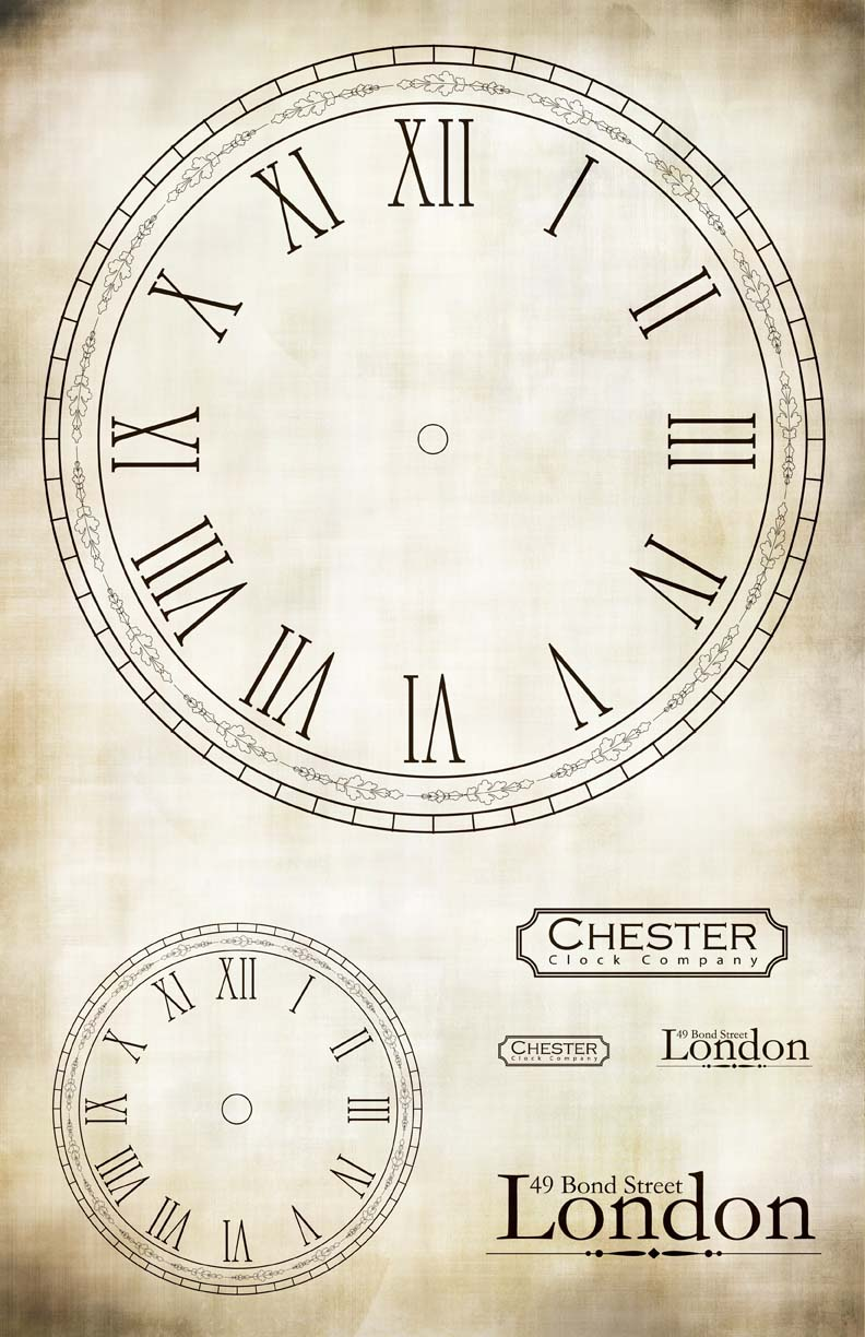 Clock London Chester Collage Paper