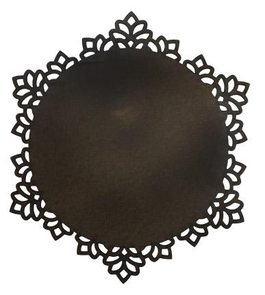 Round Snowflake Plaque