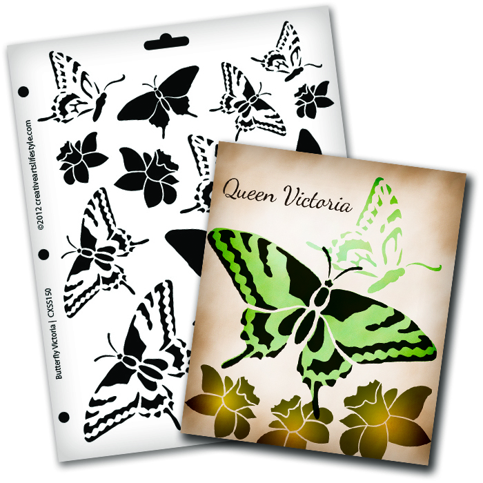 "Butterfly  Magic Victoria Stencil - 8 1/2"" x 11"""