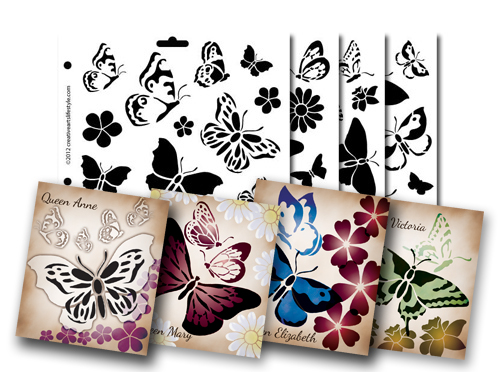 Butterfly Magic Stencil Collection