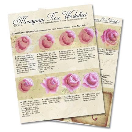 Monogram Rose Worksheet