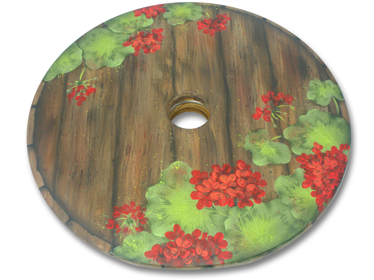 Geraniums Cask Lazy Susan DVD & Pattern Packet - Patricia Rawlinson