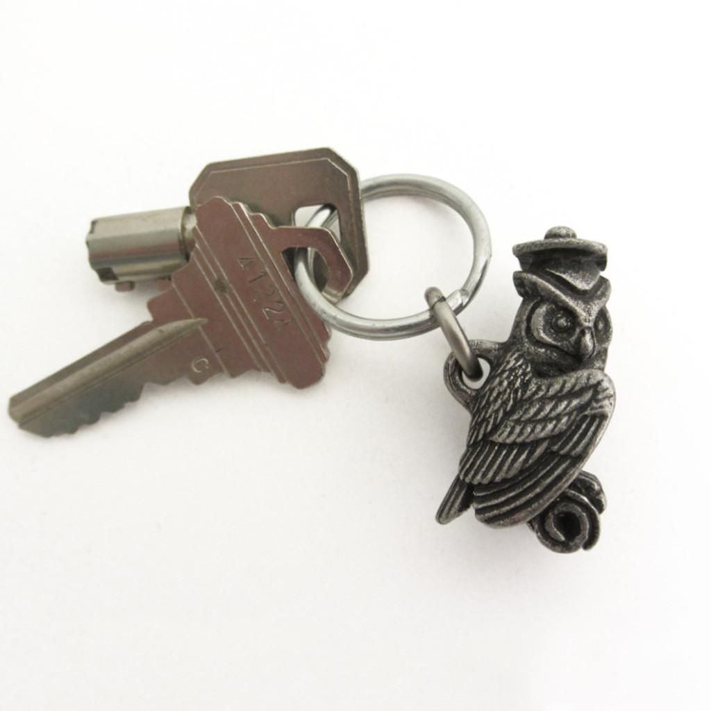 graduation owl keychain