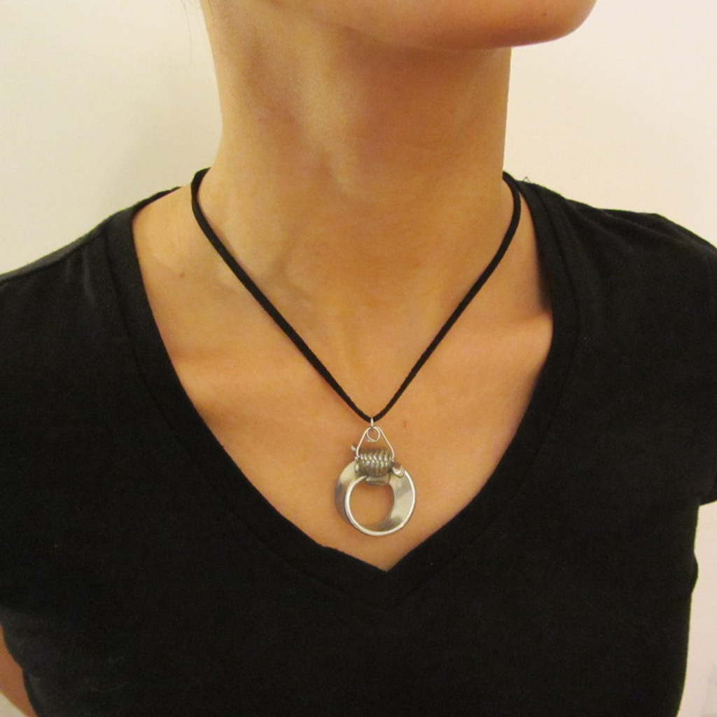 mobius strip pendant with turtle