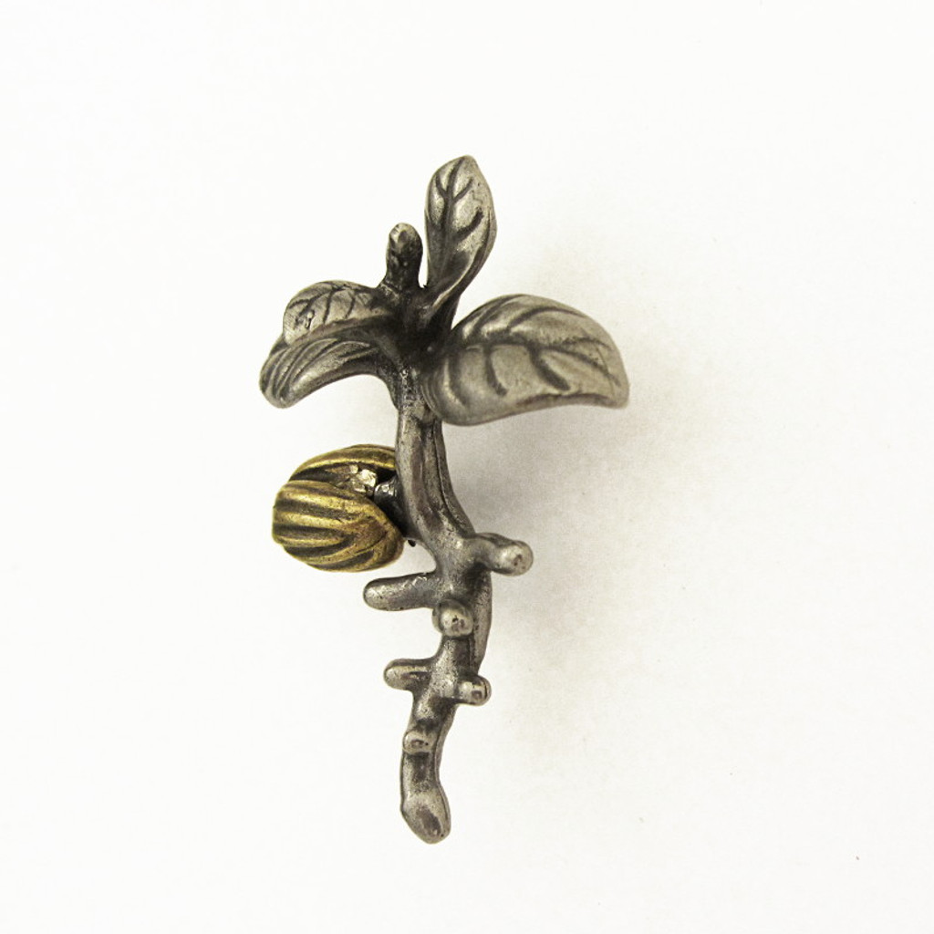 olive tree seedling lapel pin