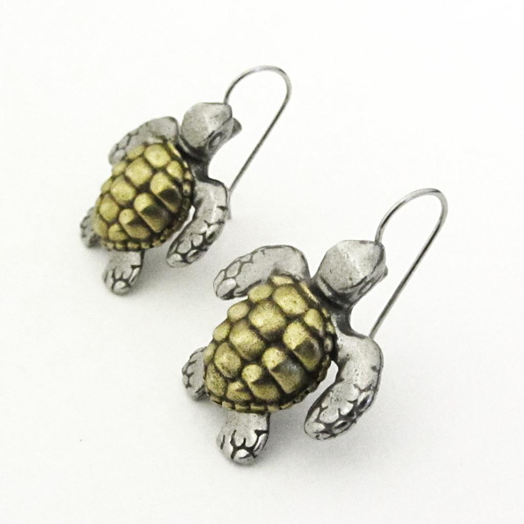 loggerhead sea turtle earrings