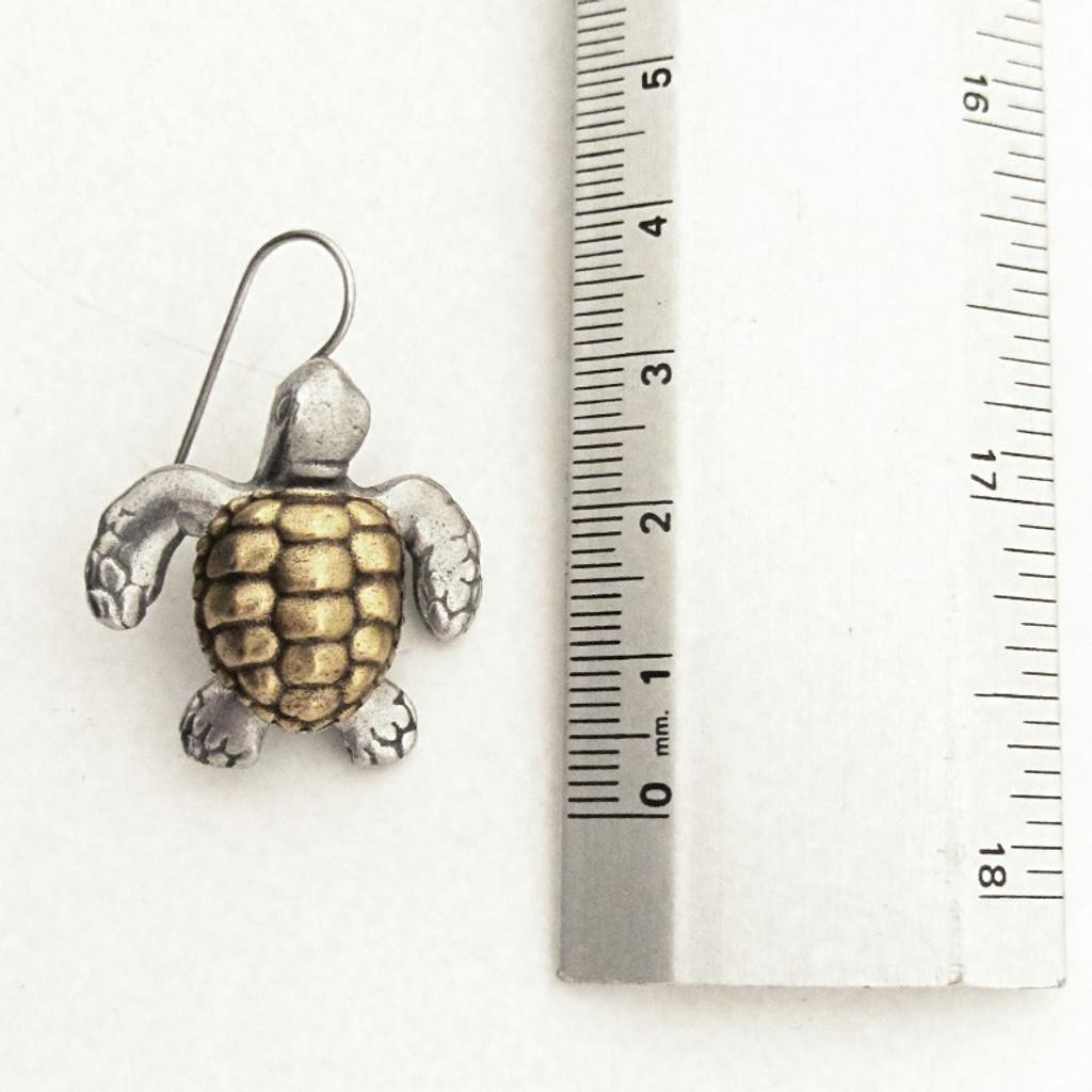 loggerhead sea turtle earring