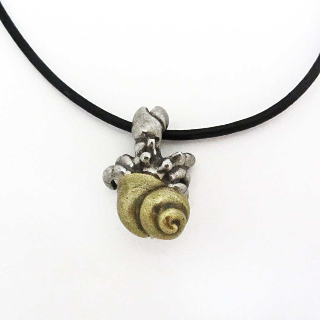 small hermit crab necklace