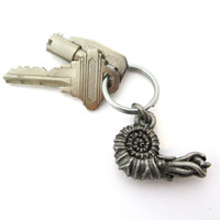 ammonite keychain