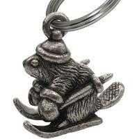 Holiday Beaver Keychain