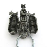 submarine keychain in open position