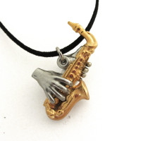 Saxophone Pendant (shiny option)