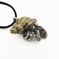 hermit crab pendant
