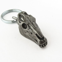 clippy horse skull keychain