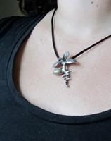 olive tree seedling necklace