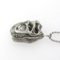 Allosaurus Magnifier Pendant in closed position