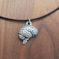 human brain pendant necklace